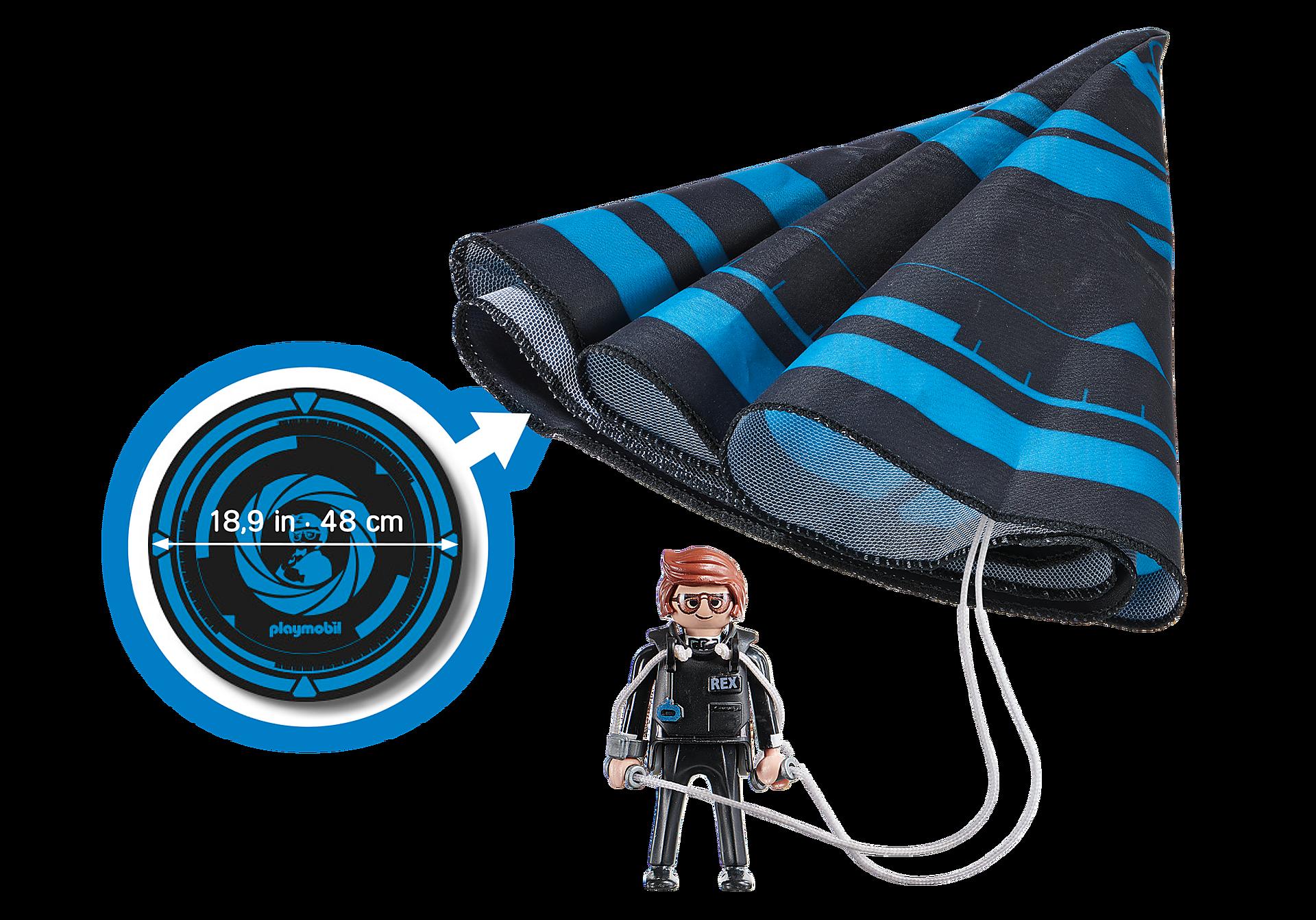 70070 PLAYMOBIL: THE MOVIE Rex Dasher avec parachute zoom image3