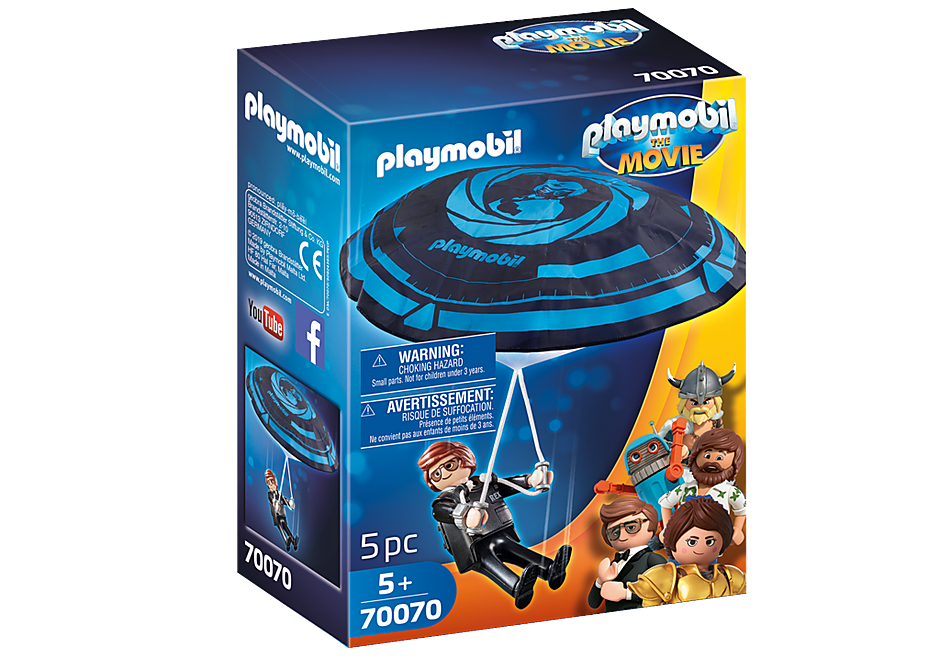 70070 PLAYMOBIL: THE MOVIE Rex Dasher with Parachute detail image 2