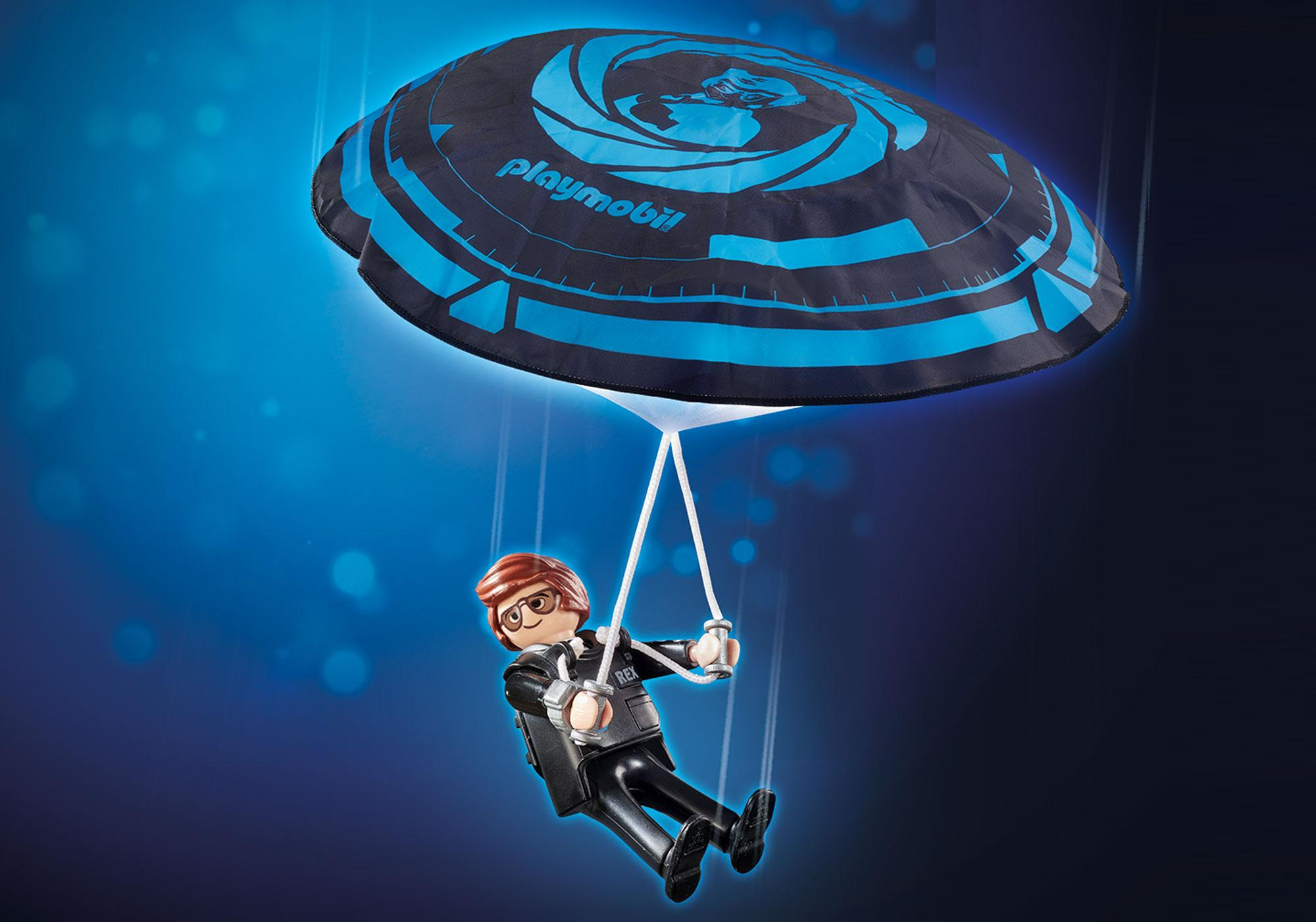 70070_product_detail/PLAYMOBIL: THE MOVIE Rex Dasher met parachute