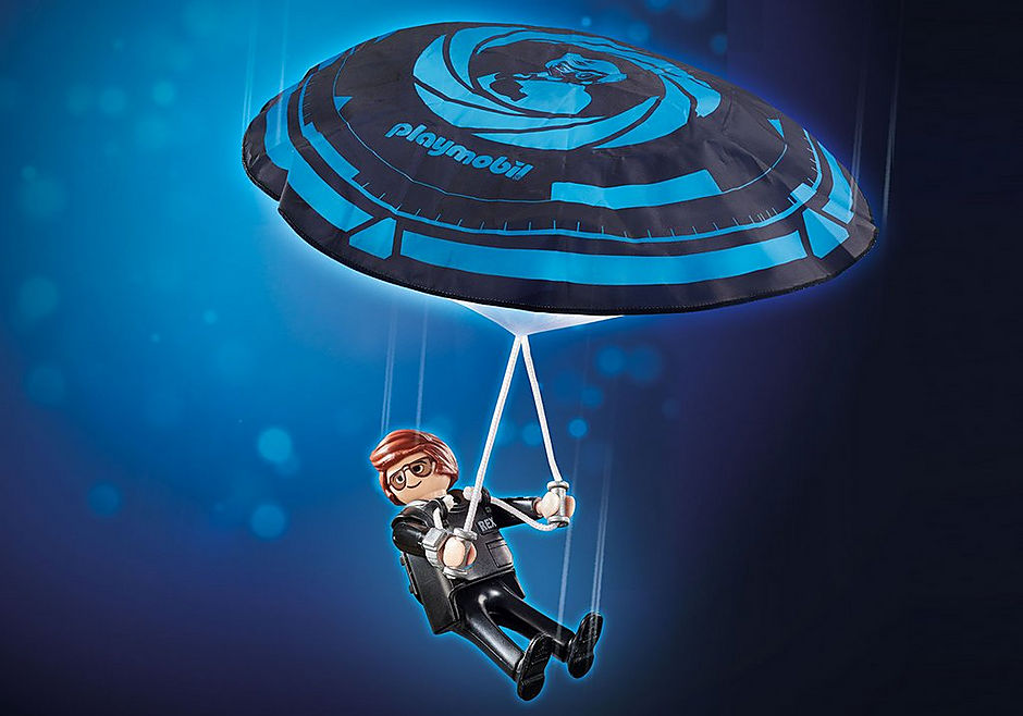 70070 PLAYMOBIL: THE MOVIE Rex Dasher met parachute detail image 1