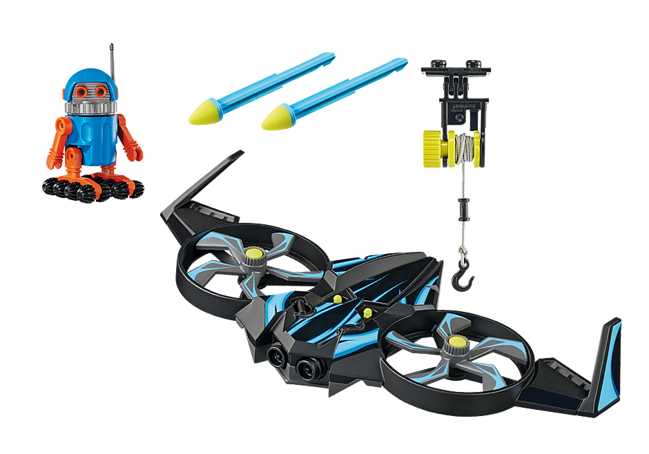 70071 PLAYMOBIL:THE MOVIE Robotitron mit Drohne detail image 3