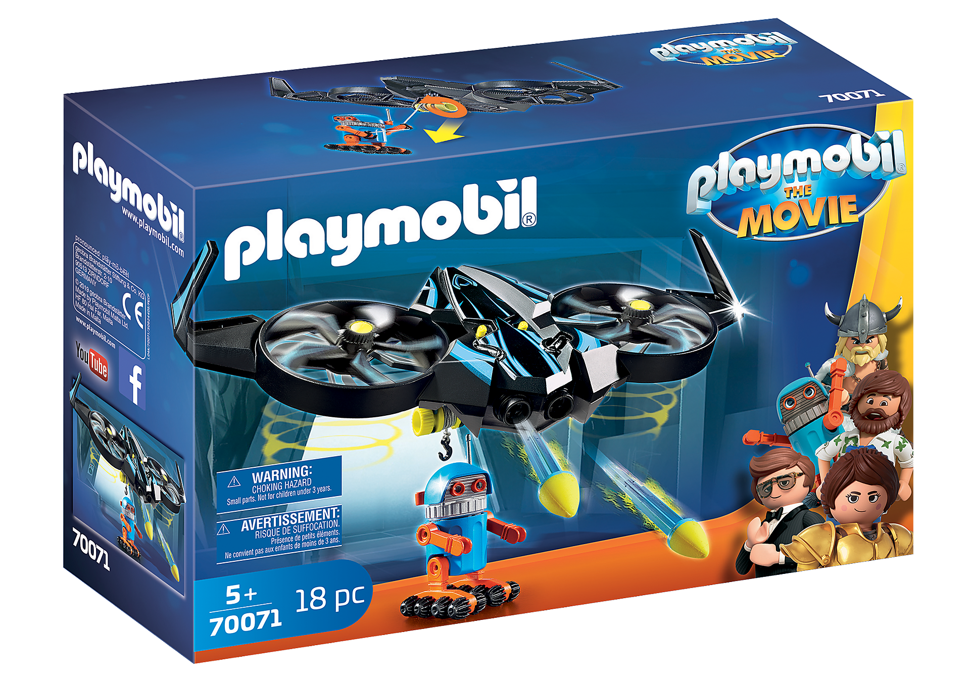 70071 PLAYMOBIL: THE MOVIE Robotitron con Dron zoom image2
