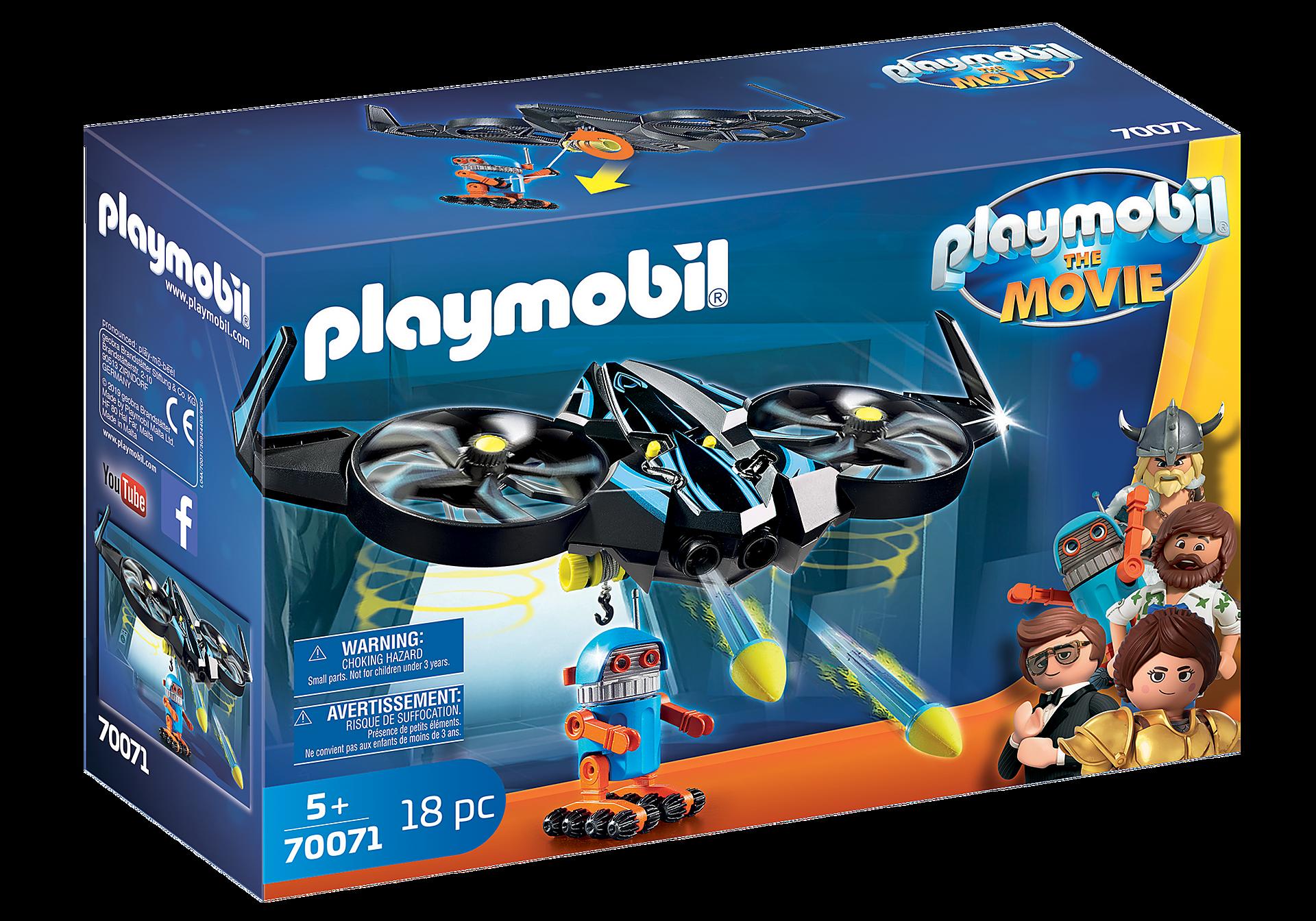 70071 PLAYMOBIL:THE MOVIE Robotitron with Drone zoom image2
