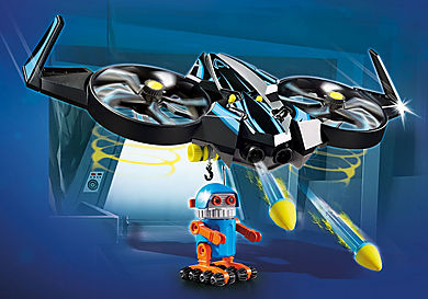 70071_product_detail/PLAYMOBIL: THE MOVIE Robotitron com Dron