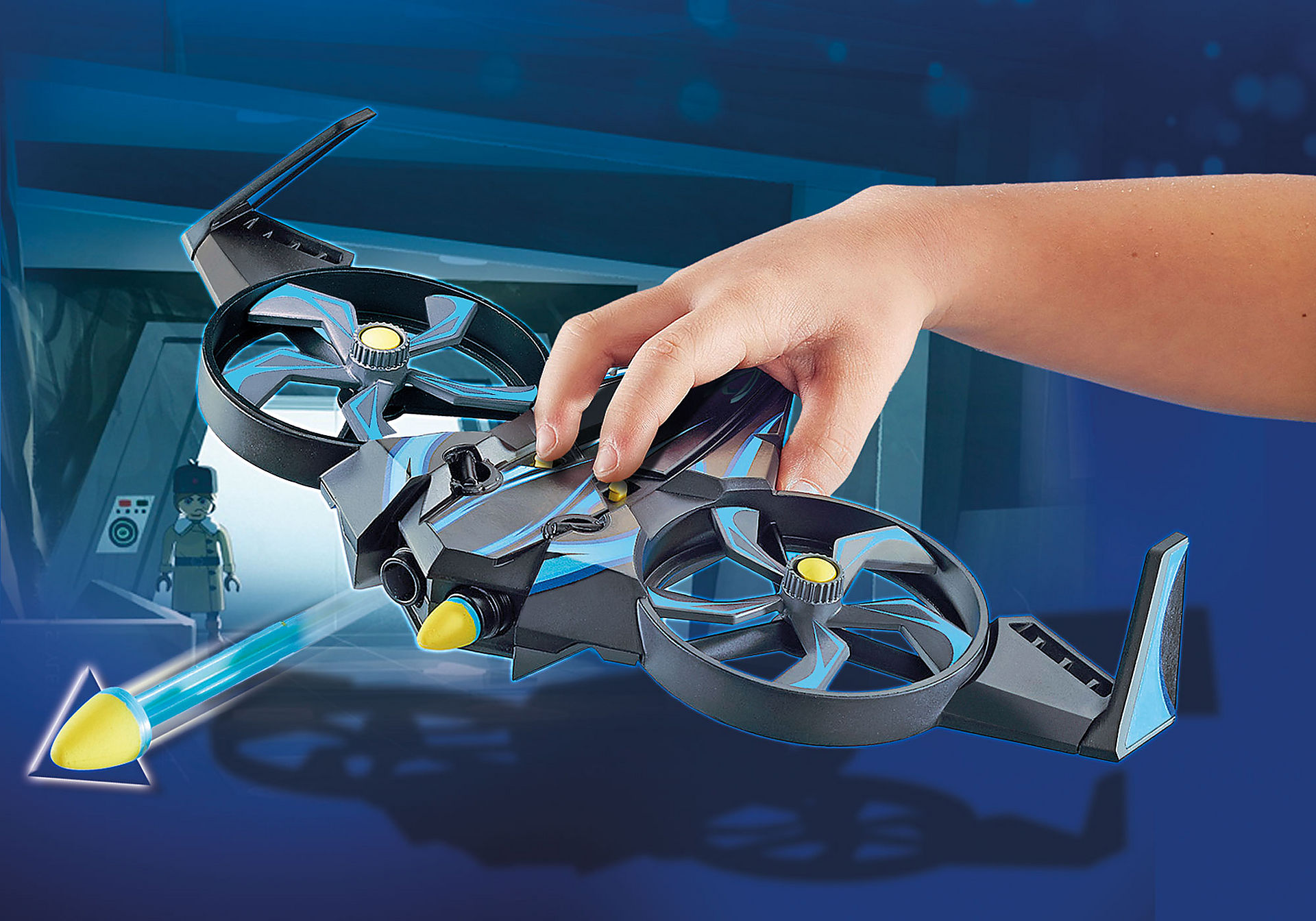 http://media.playmobil.com/i/playmobil/70071_product_extra1/PLAYMOBIL: THE MOVIE Robotitron avec drone