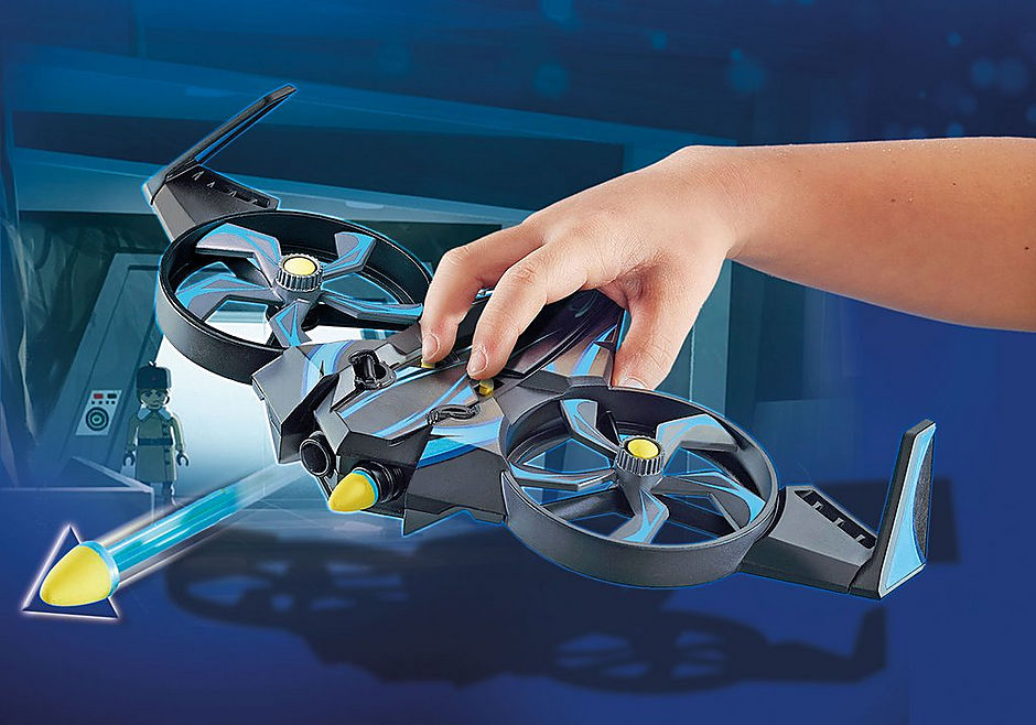 70071 PLAYMOBIL:THE MOVIE Robotitron with Drone detail image 4