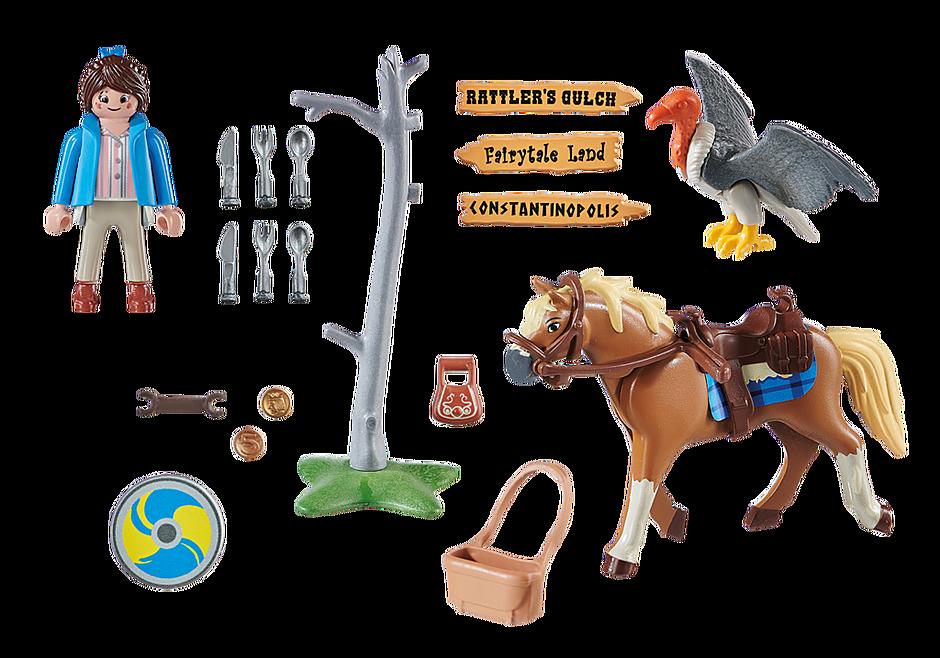 70072 PLAYMOBIL: THE MOVIE Marla avec cheval  detail image 3