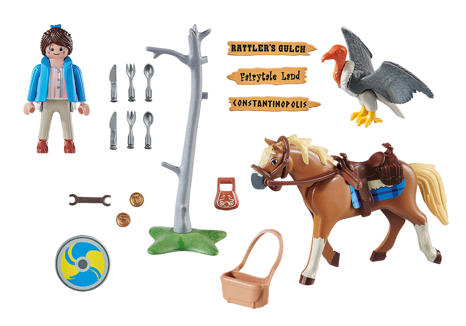 70072 PLAYMOBIL: THE MOVIE Marla con cavallo zoom image3