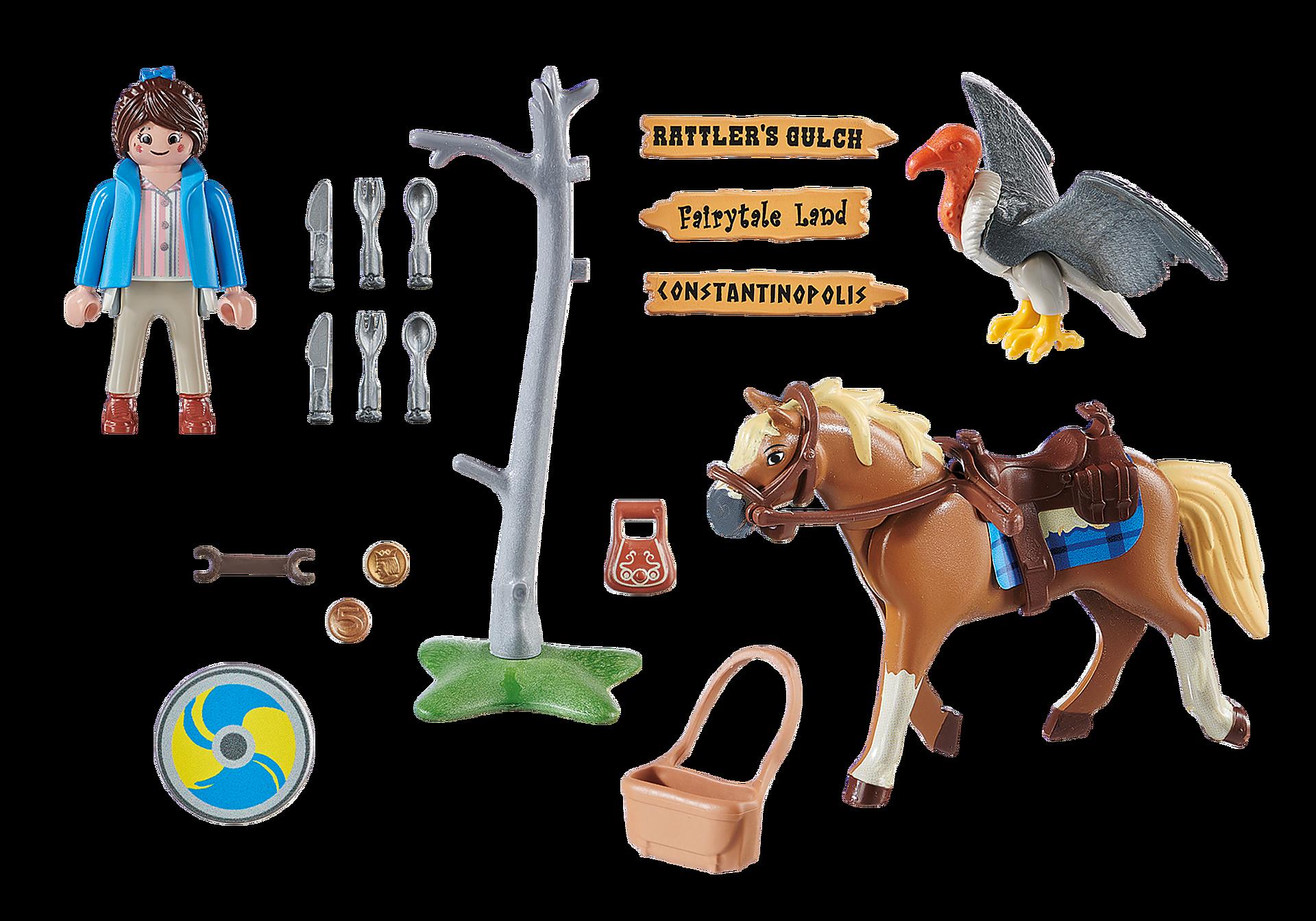 70072 PLAYMOBIL:THE MOVIE Marla mit Pferd zoom image3