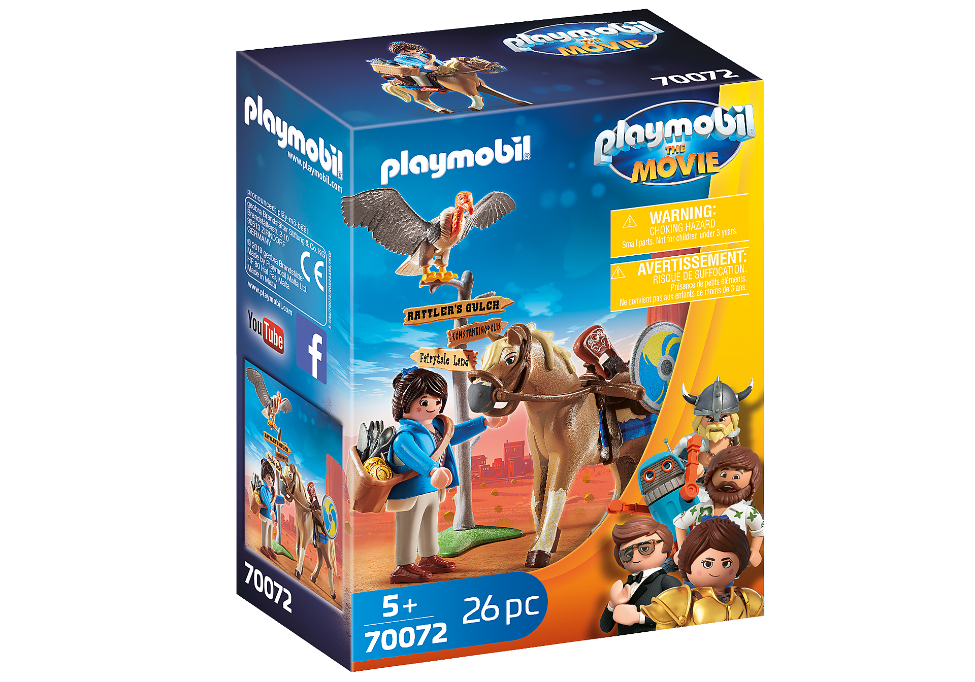 70072 PLAYMOBIL: THE MOVIE Marla con cavallo zoom image2