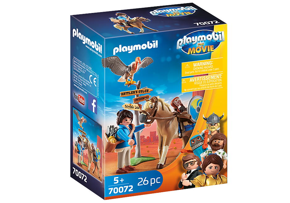 70072 PLAYMOBIL: THE MOVIE Marla with Horse detail image 2