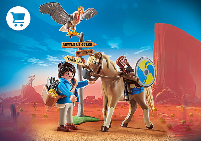 70072_product_detail/PLAYMOBIL: THE MOVIE Marla com Cavalo