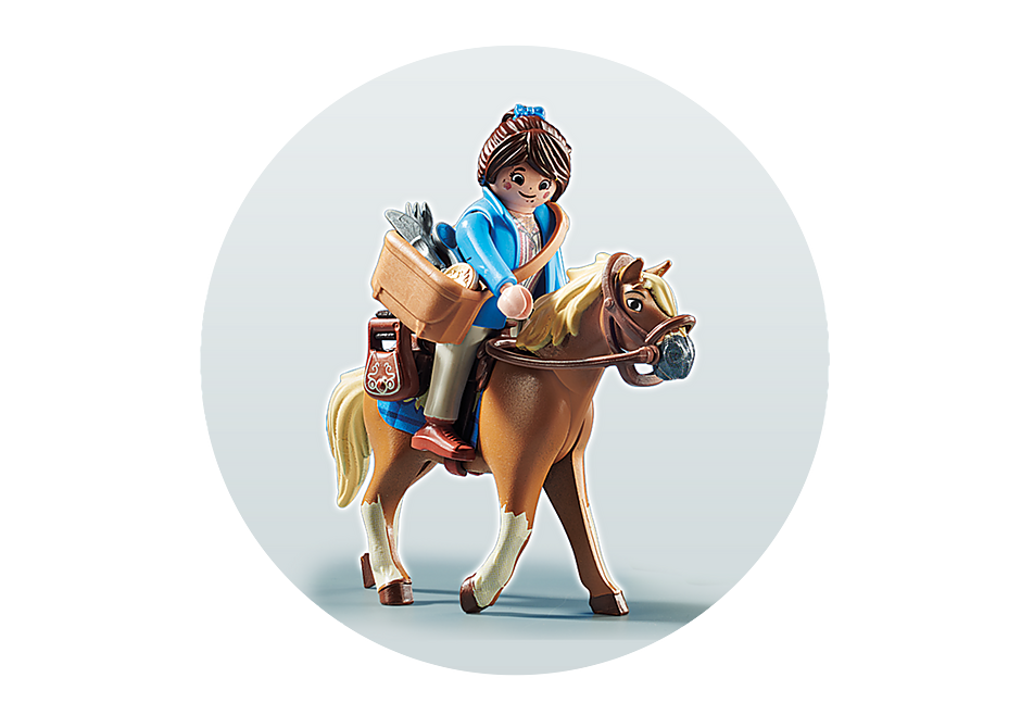 70072 PLAYMOBIL: THE MOVIE Marla con cavallo detail image 4