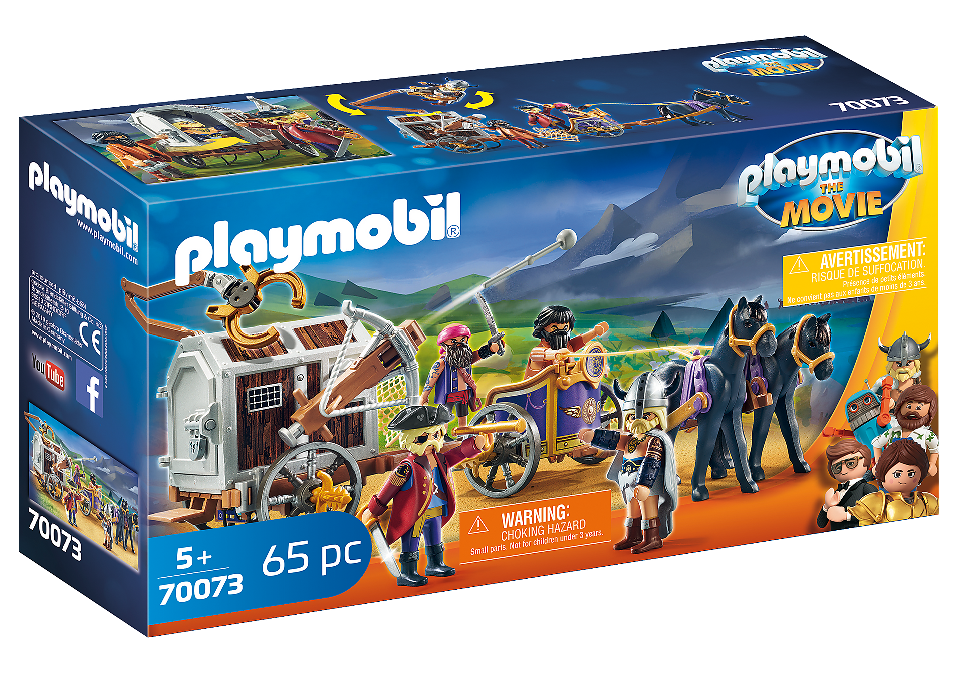 70073 PLAYMOBIL: THE MOVIE Charlie con Carro Prisión zoom image2