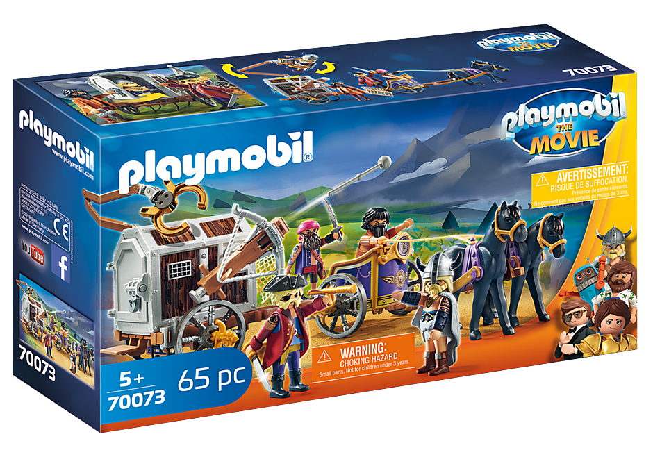 70073 PLAYMOBIL:THE MOVIE Charlie with Prison Wagon detail image 2