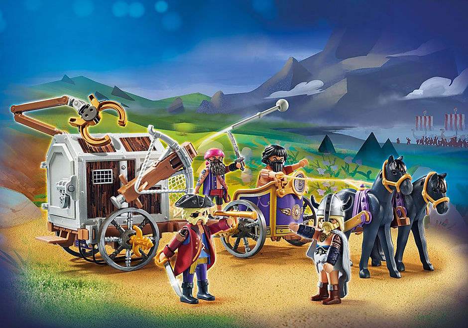 70073 PLAYMOBIL: THE MOVIE Charlie with Prison Wagon detail image 1