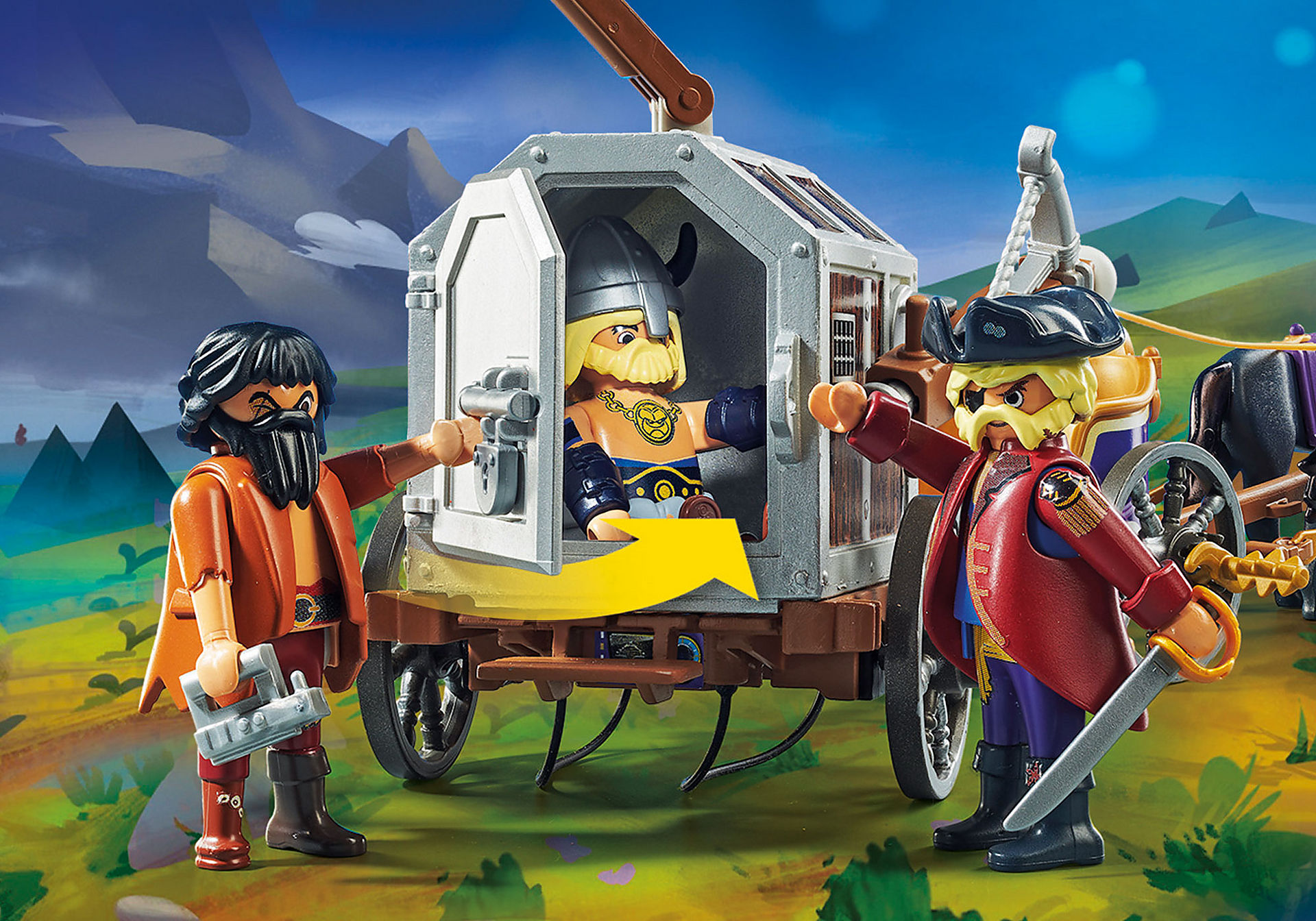 70073 PLAYMOBIL: THE MOVIE Charlie con carro prigione zoom image5