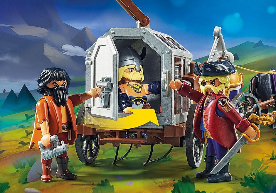 70073 PLAYMOBIL:THE MOVIE Charlie with Prison Wagon detail image 5