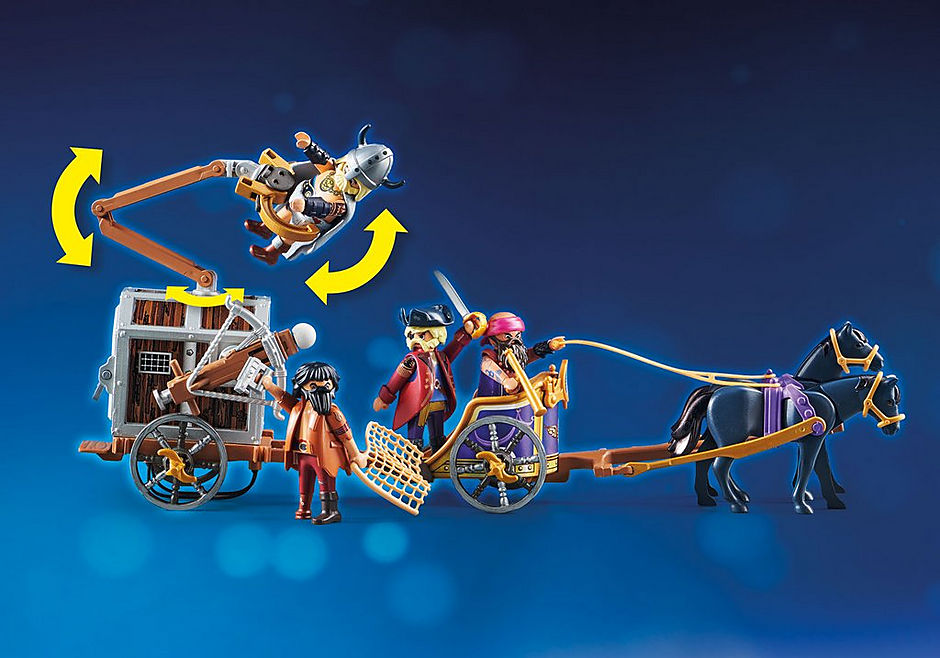 70073 PLAYMOBIL: THE MOVIE Charlie with Prison Wagon detail image 6