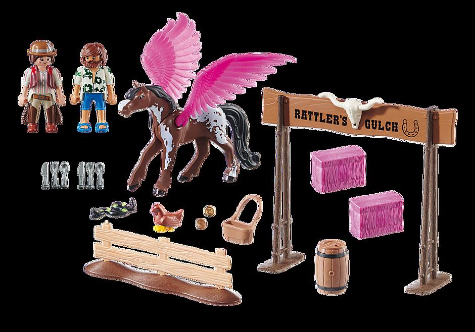 70074 PLAYMOBIL: THE MOVIE Marla et Del avec cheval ailé  detail image 3