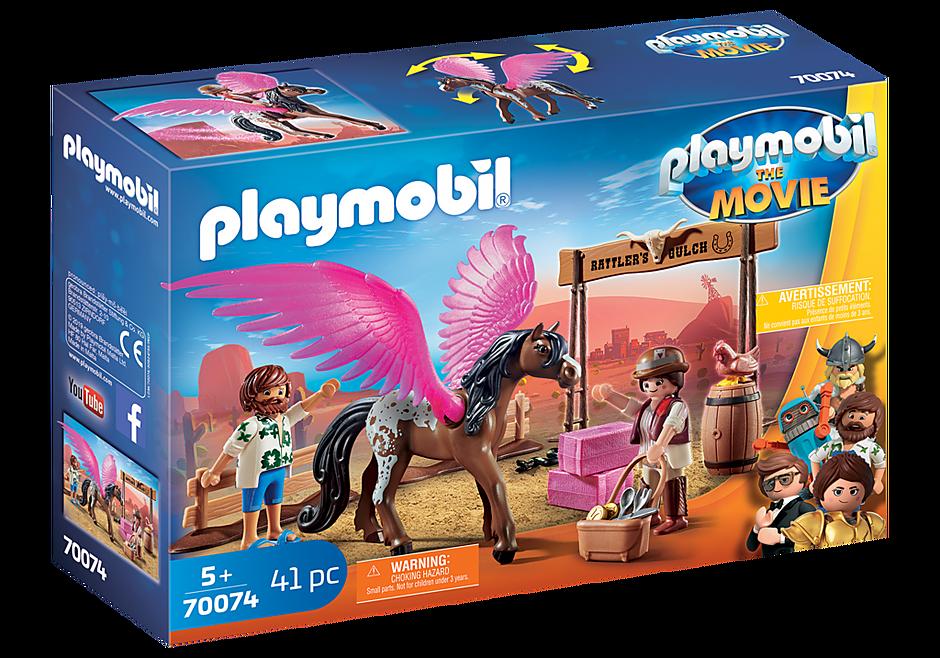 70074 PLAYMOBIL: THE MOVIE Marla et Del avec cheval ailé  detail image 2
