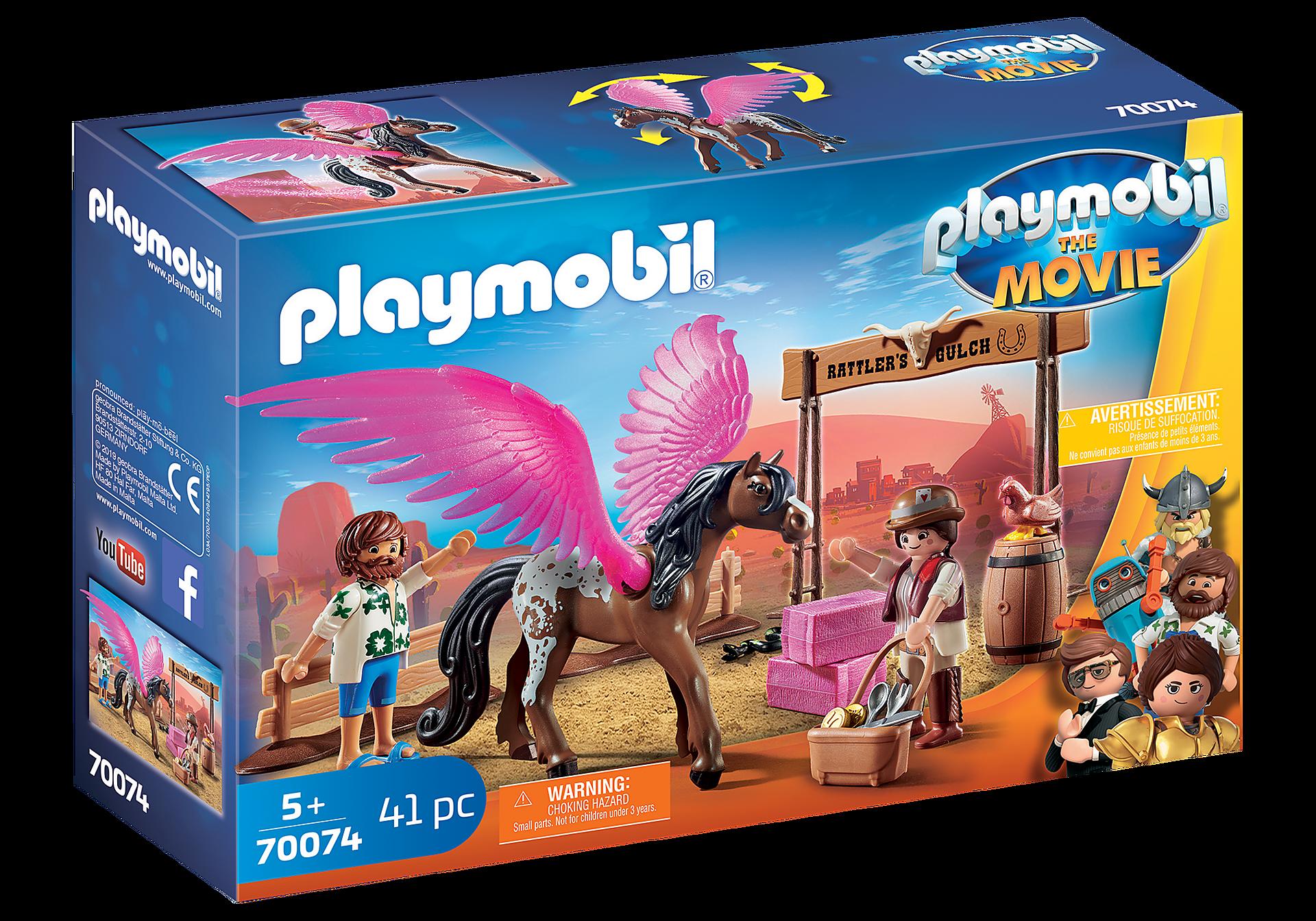 70074 PLAYMOBIL: THE MOVIE Marla et Del avec cheval ailé  zoom image2