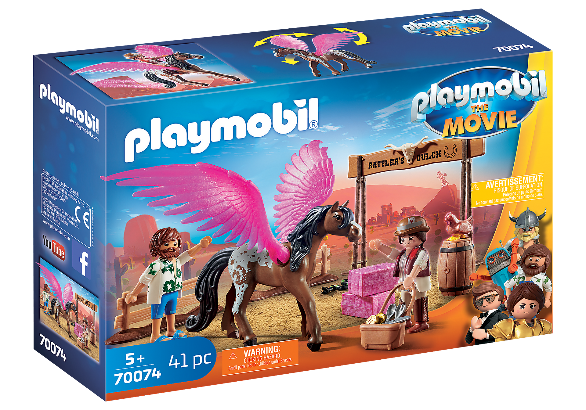 70074 PLAYMOBIL: THE MOVIE Marla, Del y Caballo con Alas zoom image2