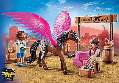 70074_product_detail/PLAYMOBIL: THE MOVIE Marla, Dell i skrzydlaty koń