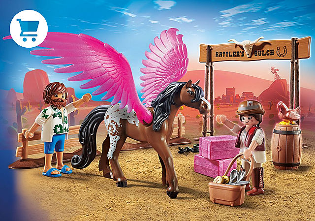 70074_product_detail/PLAYMOBIL:THE MOVIE Marla and Del with Flying Horse