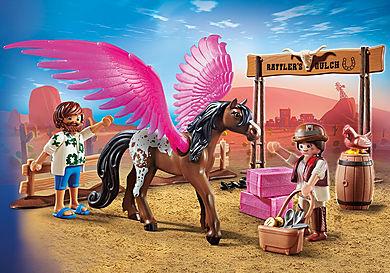 70074 PLAYMOBIL:THE MOVIE Marla, Del und Pferd mit Flügeln