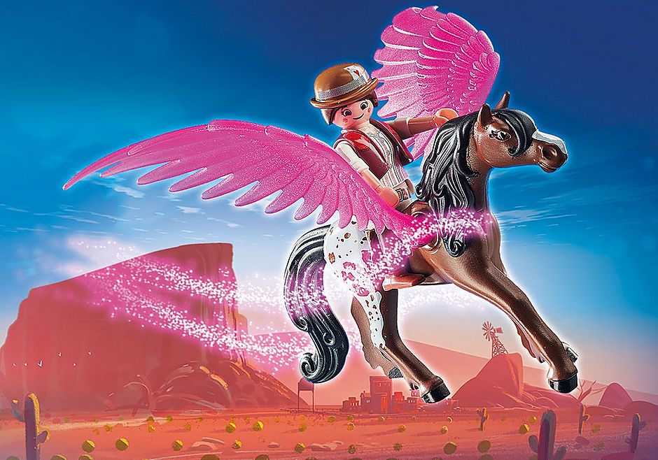 70074 PLAYMOBIL: THE MOVIE Marla and Del with Flying Horse detail image 4