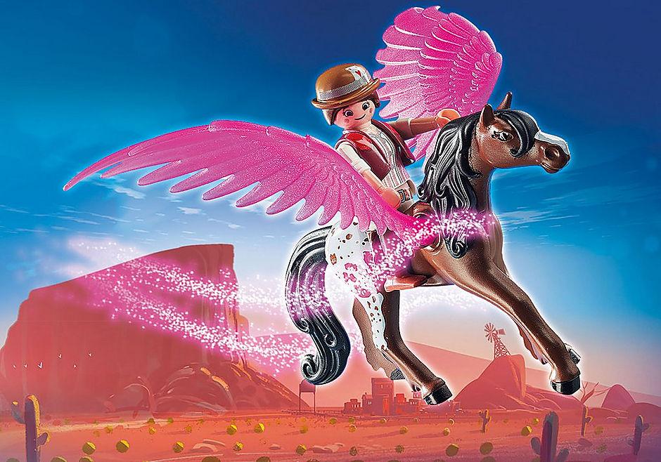 70074 PLAYMOBIL: THE MOVIE Marla et Del avec cheval ailé  detail image 4
