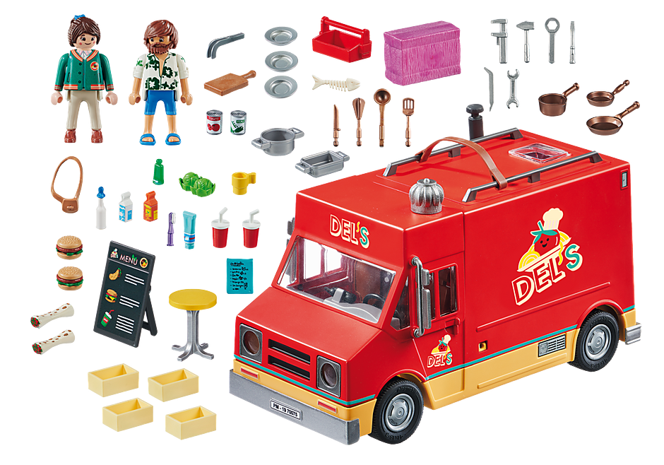 http://media.playmobil.com/i/playmobil/70075_product_box_back/PLAYMOBIL: THE MOVIE Food Truck di Del