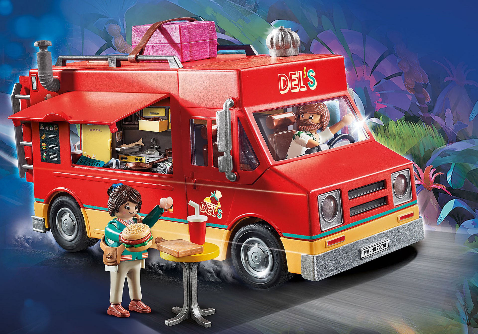 70075 PLAYMOBIL. THE MOVIE Carrinha da Comida do Del zoom image1