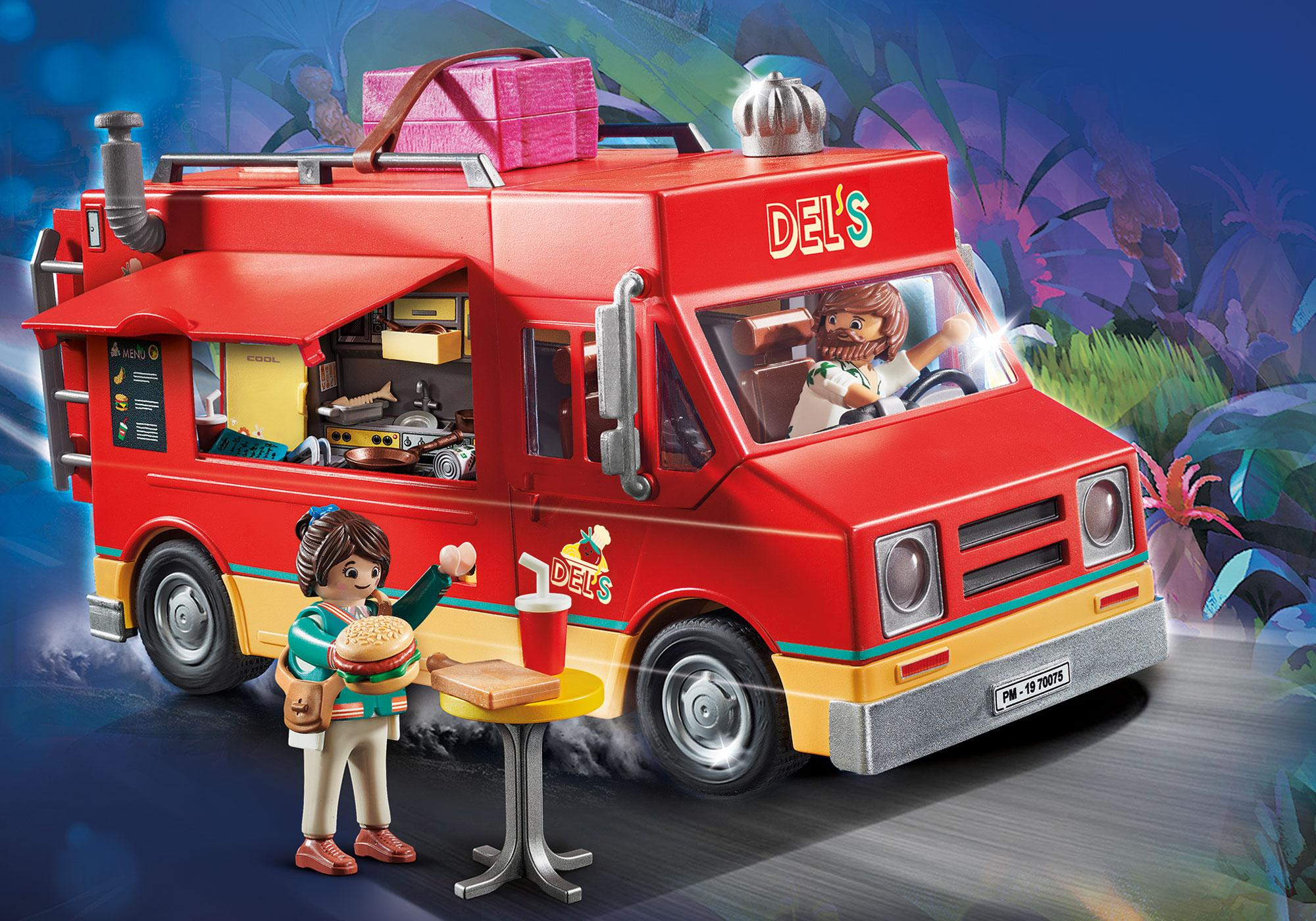 70075_product_detail/PLAYMOBIL: THE MOVIE Del's Food truck