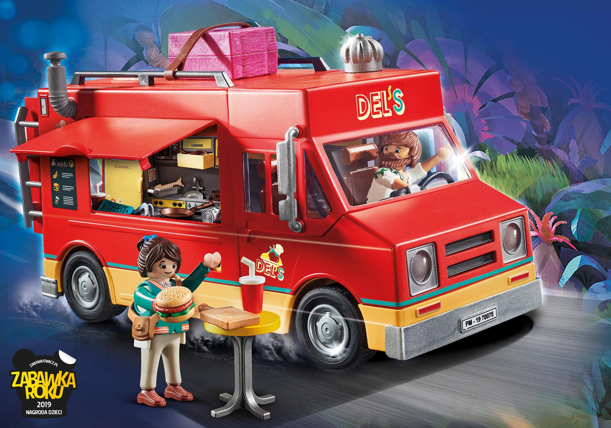 70075_product_detail/PLAYMOBIL: THE MOVIE Food Truck Del'a