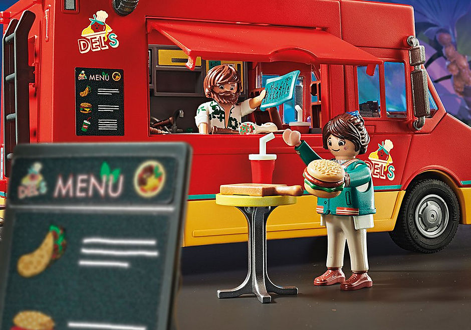 70075 PLAYMOBIL. THE MOVIE Carrinha da Comida do Del detail image 5