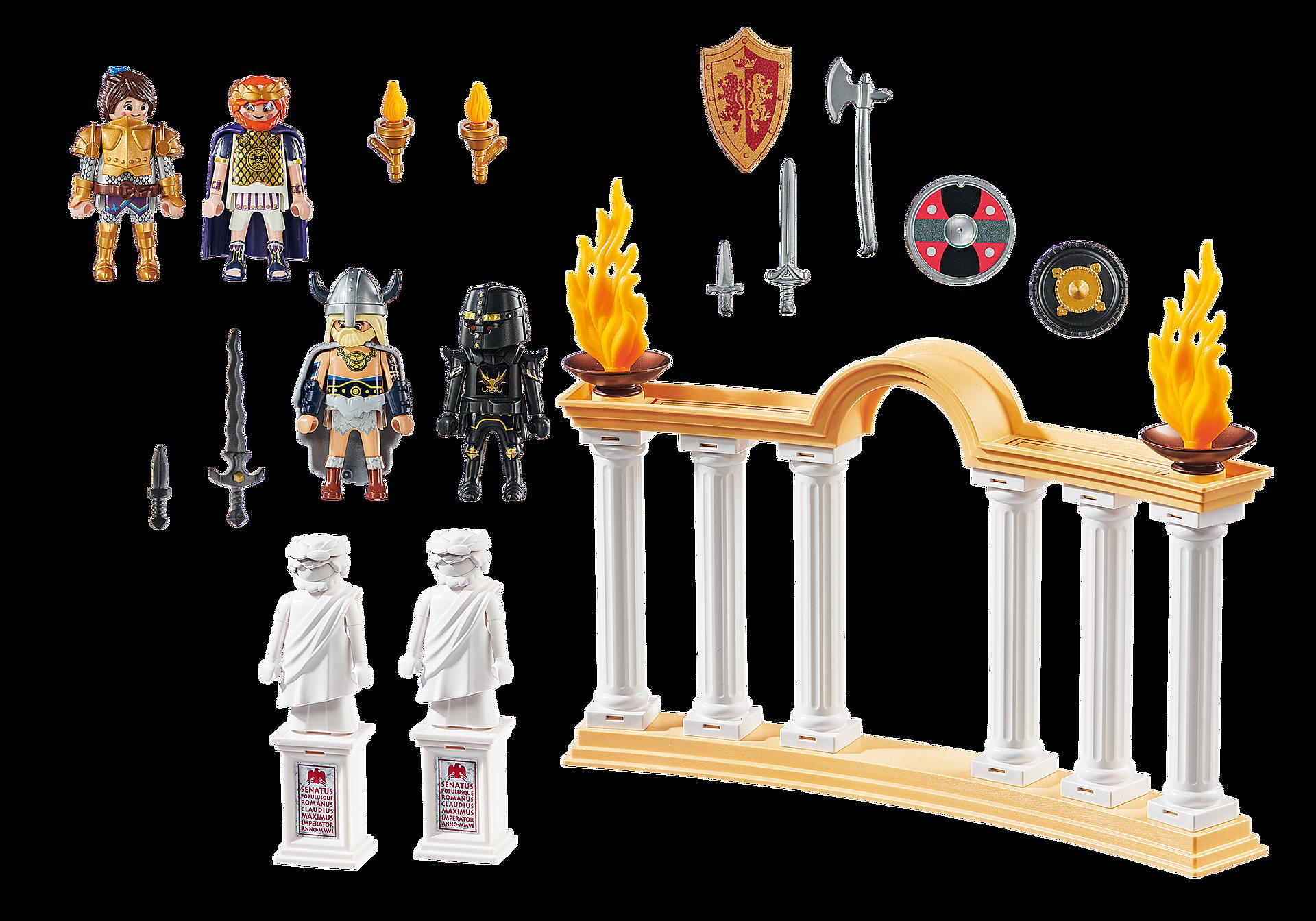 http://media.playmobil.com/i/playmobil/70076_product_box_back/PLAYMOBIL: THE MOVIE Empereur Maximus et Colisée
