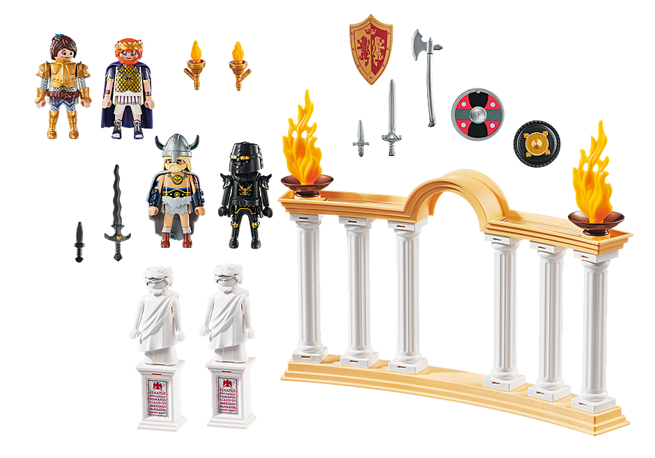 http://media.playmobil.com/i/playmobil/70076_product_box_back/PLAYMOBIL: THE MOVIE Keizer Maximus in het Colosseum