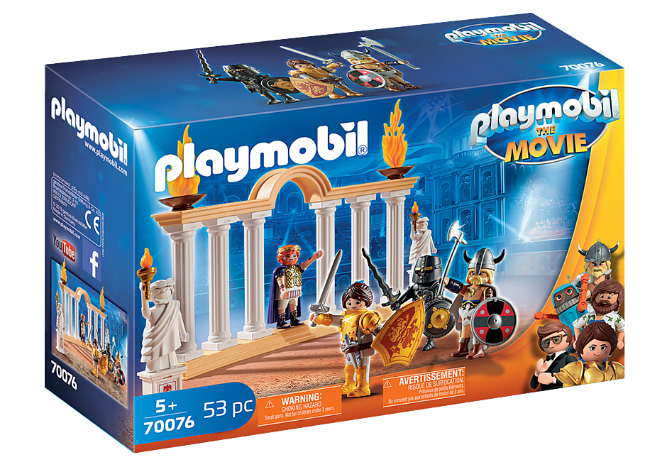 70076 PLAYMOBIL: THE MOVIE Empereur Maximus et Colisée  detail image 2