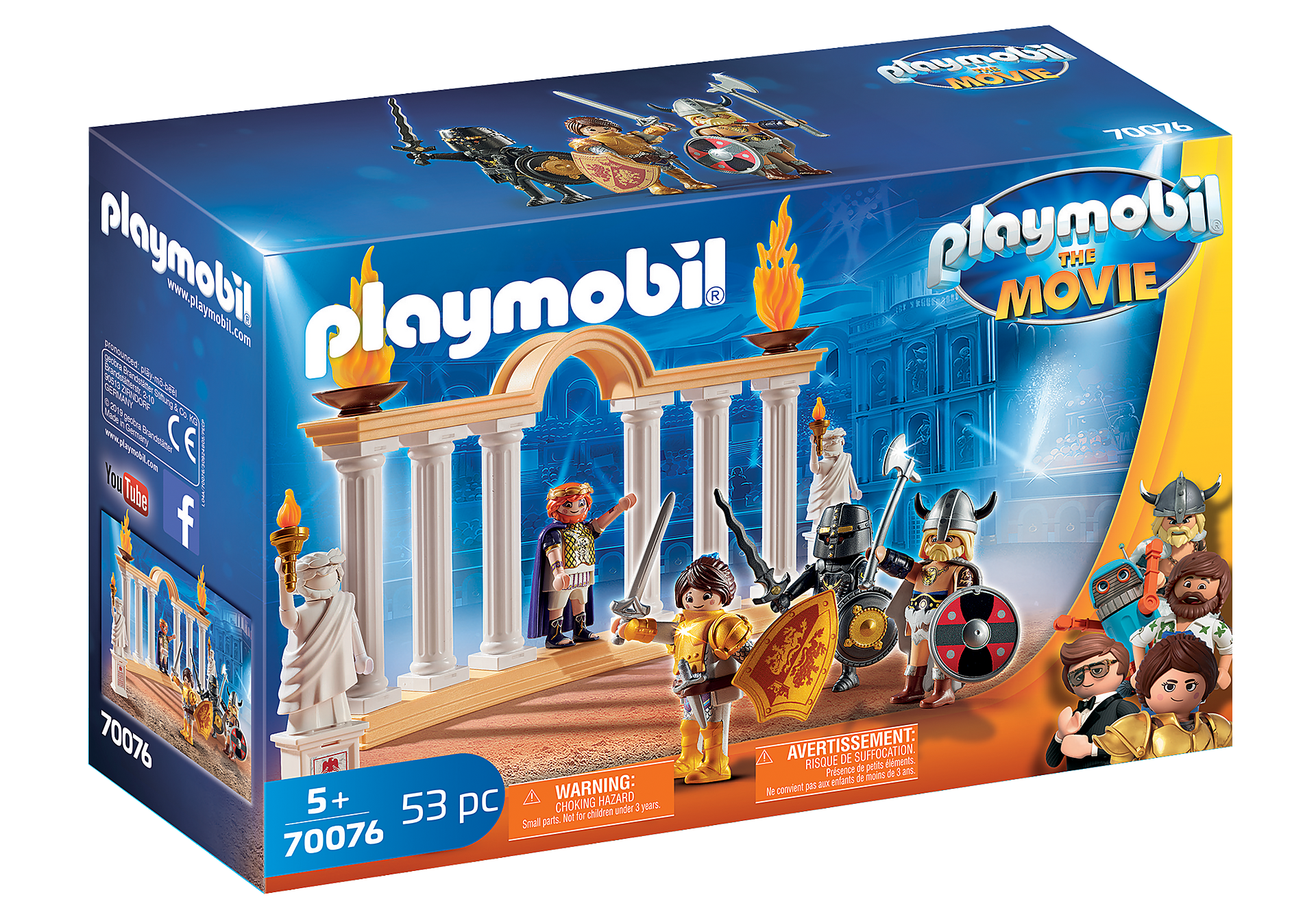 70076 PLAYMOBIL: THE MOVIE Emperor Maximus in the Colosseum zoom image2