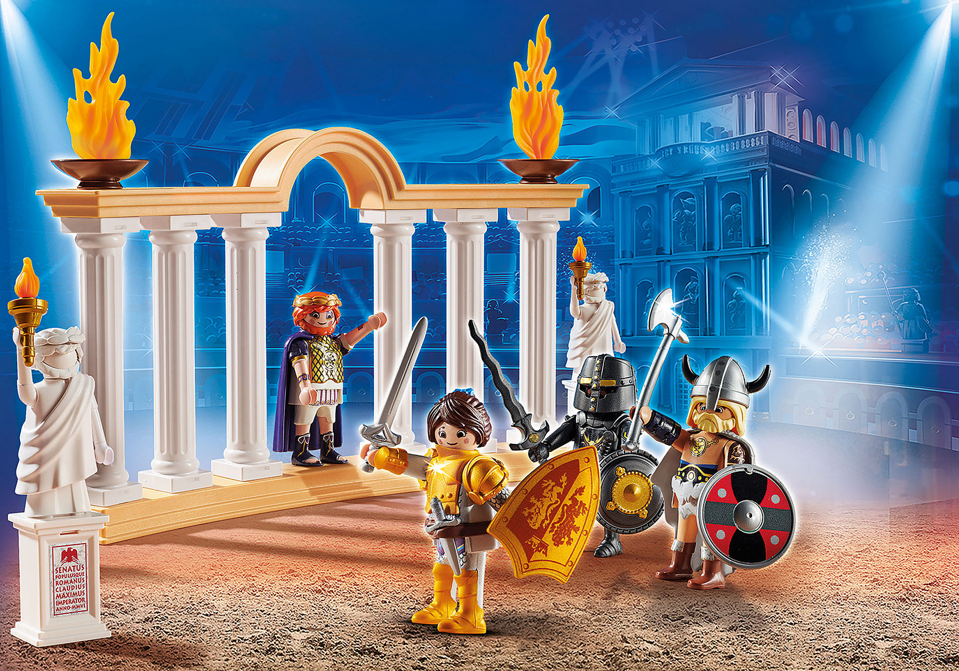70076 PLAYMOBIL: THE MOVIE Empereur Maximus et Colisée  zoom image1