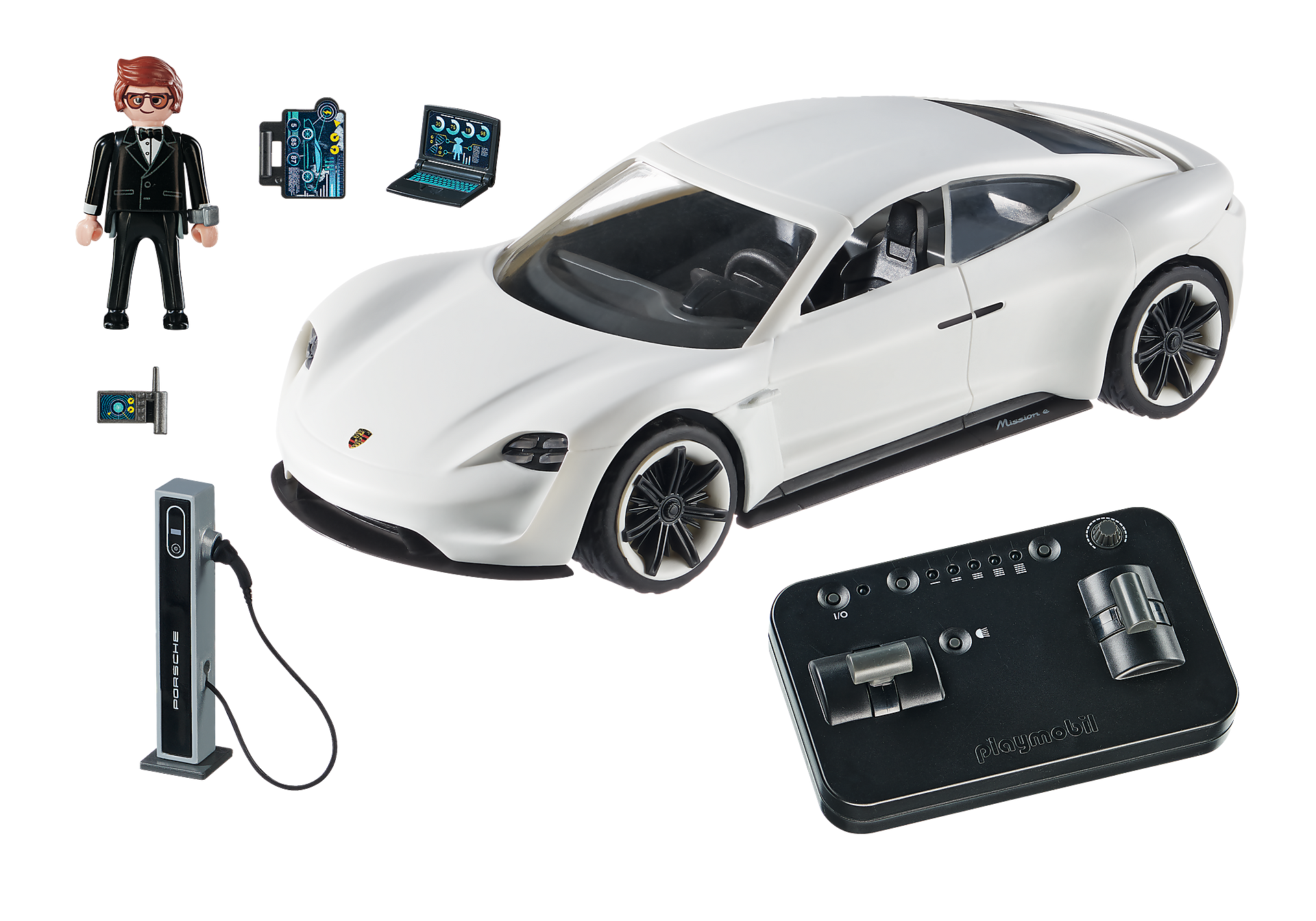 70078 PLAYMOBIL: THE MOVIE Rex Dasher et  Porsche Mission E zoom image3