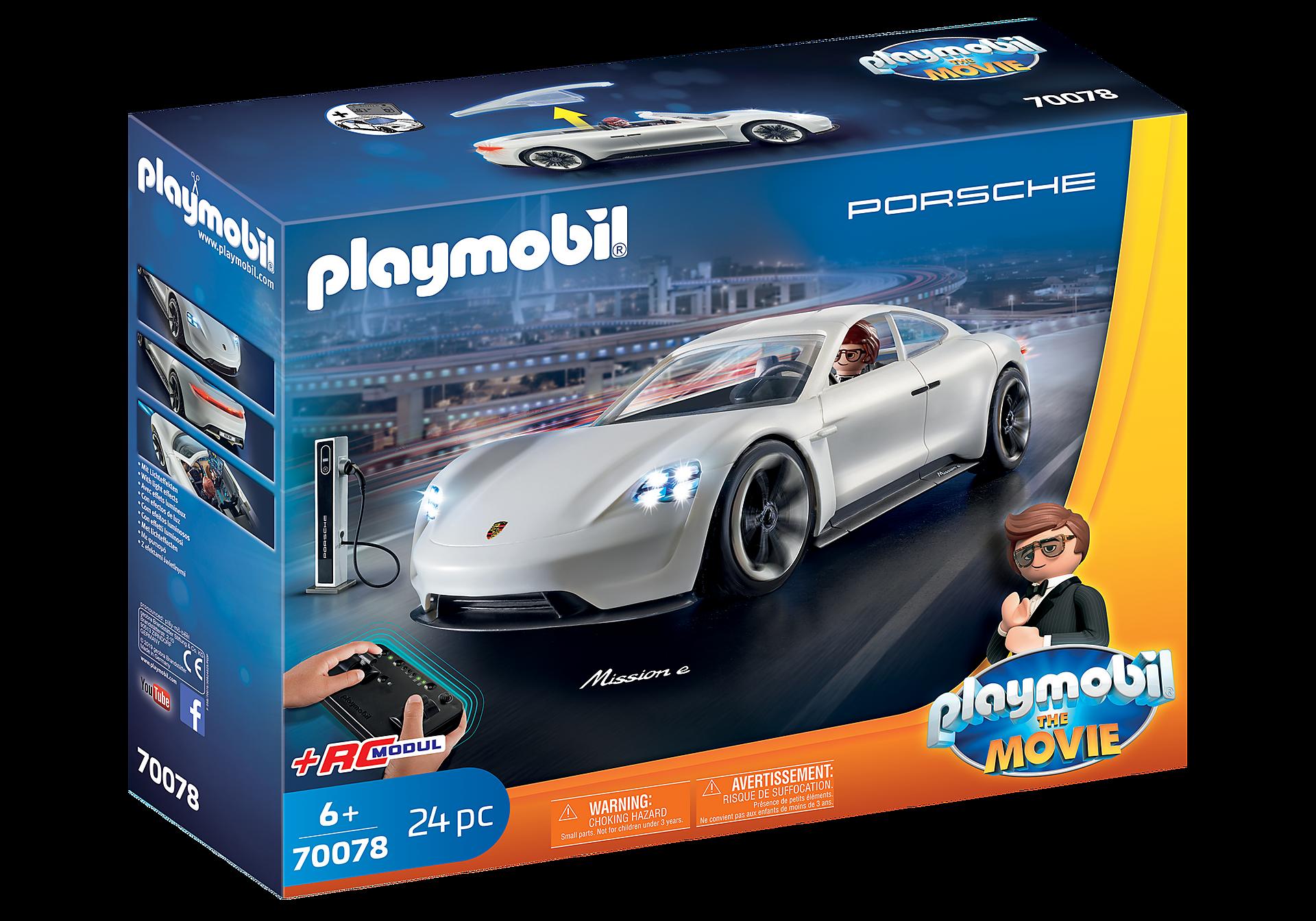 70078 PLAYMOBIL: THE MOVIE Rex Dasher et  Porsche Mission E zoom image2