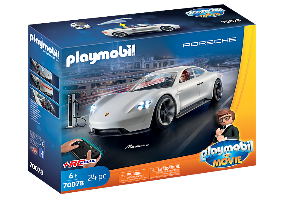 70078 PLAYMOBIL: THE MOVIE Rex Dasher et  Porsche Mission E detail image 2