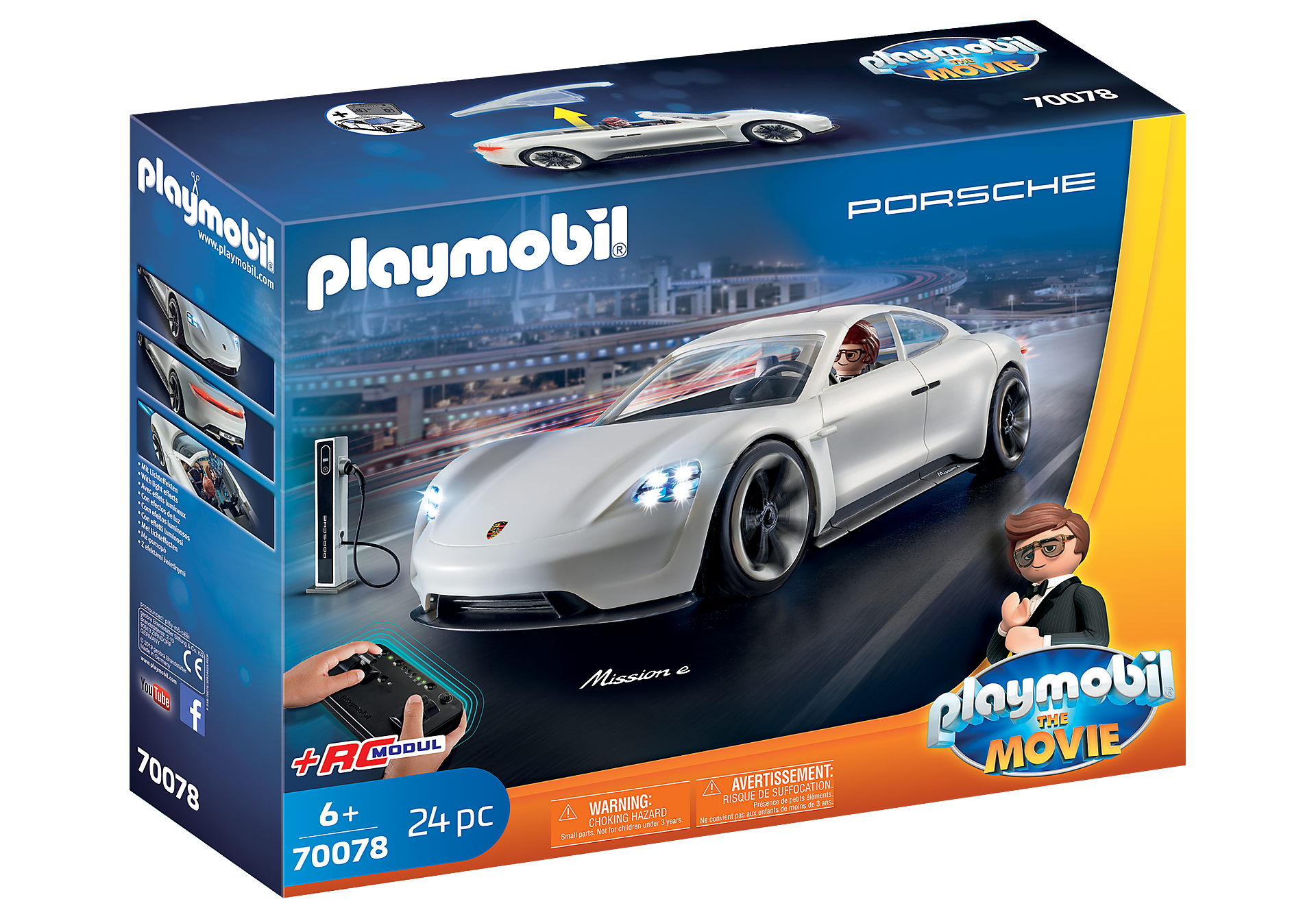 70078 PLAYMOBIL:THE MOVIE Rex Dasher's Porsche Mission E zoom image2