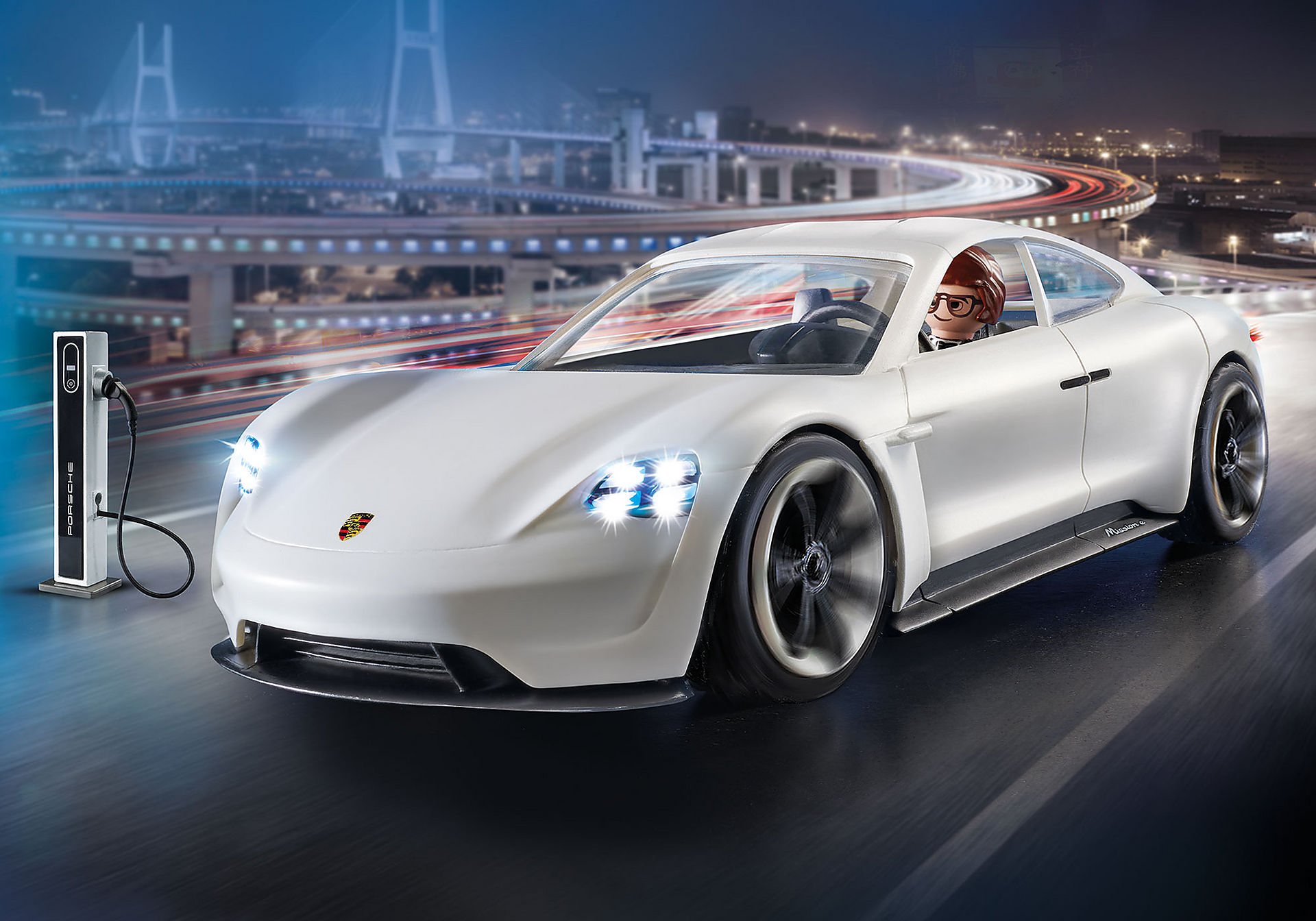 70078 PLAYMOBIL: THE MOVIE Rex Dasher et  Porsche Mission E zoom image1