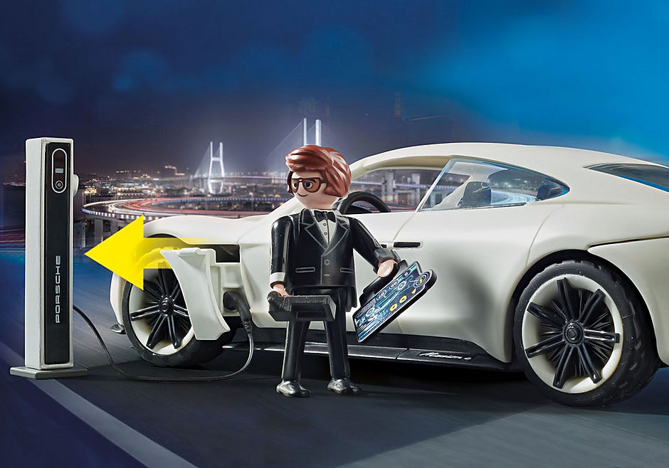 70078 PLAYMOBIL: THE MOVIE Rex Dasher et  Porsche Mission E detail image 4