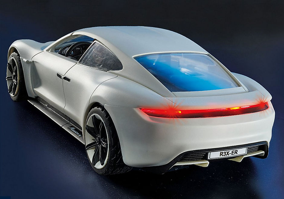70078 PLAYMOBIL:THE MOVIE Rex Dasher's Porsche Mission E detail image 6