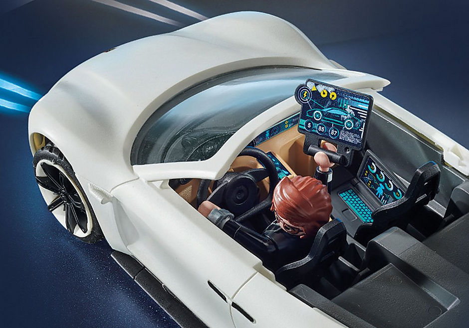 70078 PLAYMOBIL:THE MOVIE Rex Dasher's Porsche Mission E detail image 7